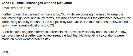 UK Government Was Concerned About Mixed Forecasts From Met