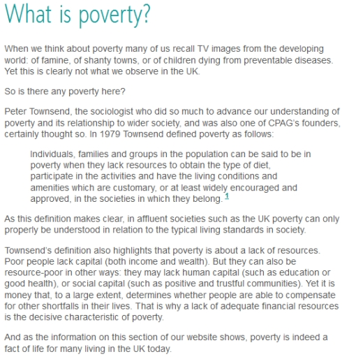 definitions of poverty Advertisements: poverty: difference between absolute poverty and relative poverty what is the definition of poverty it is a very complex question because different scholars (sociologists, economists and even political scientists) have defined it in their own way the question becomes all the more complicated when this phenomenon is linked.